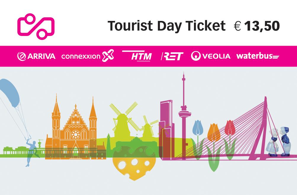 Delft tram map | Tourist Day Ticket